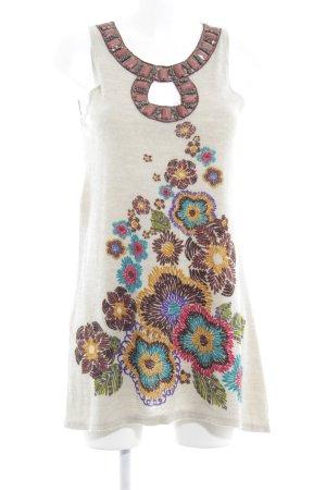 Yumi Strickkleid Blumenmuster klassischer Stil