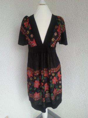 Yumi süßes Kleid schwarz/bunt Gr.S/36