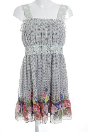 Yumi Vestido tipo overol estampado floral estilo romántico