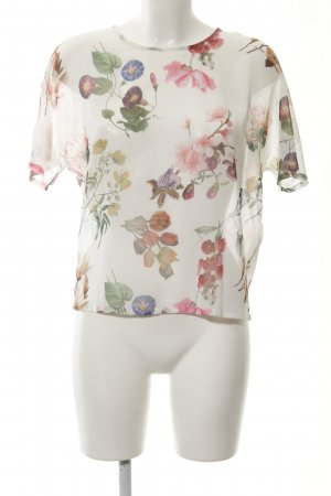 Yumi Blusa transparente estampado floral look retro