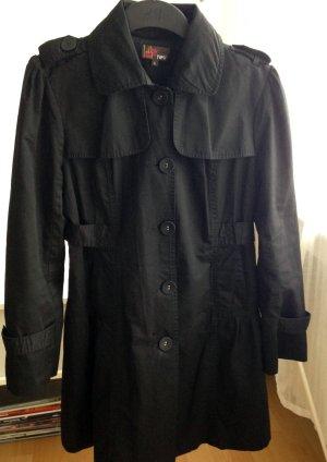 YUMI Trenchcoat Mantel L 40/42 Sommer Übergangsjacke schwarz klassisch modern