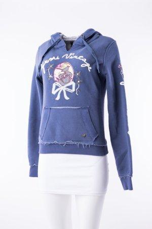 YUMI - Vintage Sweatshirt mit Kapuze Blau