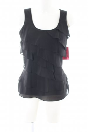Yummie tummie ärmellose Bluse schwarz Casual-Look