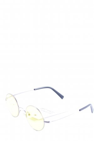 Yun ovale Sonnenbrille gelb Casual-Look