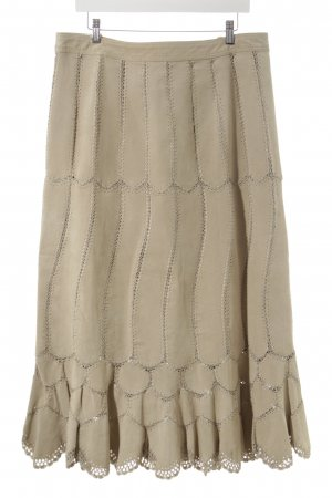 Yuppie Godet Skirt camel country style