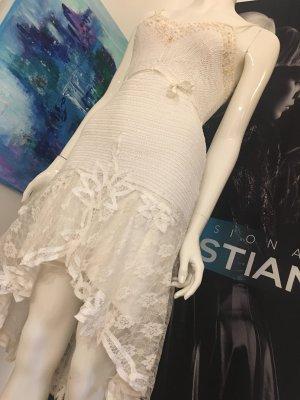 Yve lon don Small Seide Couture dress S'Finks Champagner häkel gefüttert npr über 800