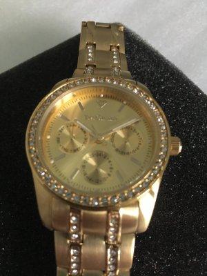 Horloge met metalen riempje goud Edelstaal