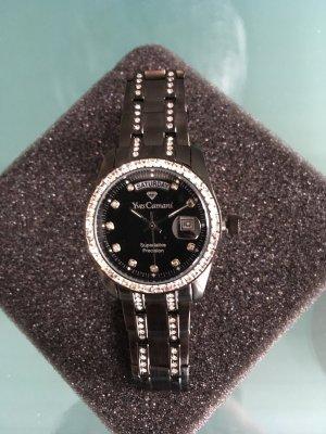 Orologio con cinturino di metallo nero Acciaio pregiato