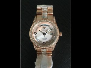 Orologio con cinturino di metallo rosa antico-rosa pallido Acciaio pregiato