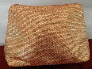 Mini Bag light orange-gold-colored synthetic fibre