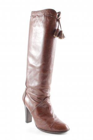 Yves Saint Laurent Absatz Stiefel cognac Country-Look