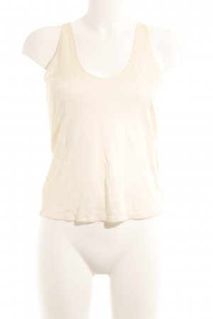 Yves Saint Laurent Basic Top creme-wollweiß klassischer Stil