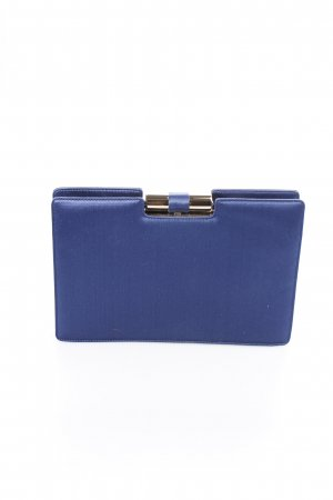Yves Saint Laurent Clutch blau Schimmer-Optik