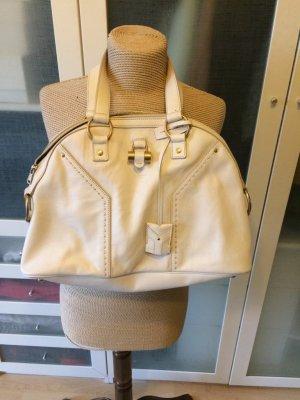Yves Saint Laurent Echtleder Handtasche weiß sehr guter Zustand