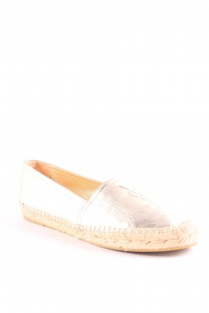 "Yves Saint Laurent Espadrilles-Sandalen ""YSL Monogramme Espadrilles Leather Light Gold 37"""