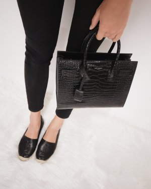 "Saint Laurent Sac à main ""Sac De Jour Baby Bond Fake Cocco Black"" noir"