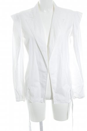 Yves Saint Laurent Hemd-Bluse wollweiß Casual-Look
