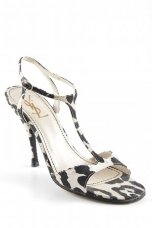 Yves Saint Laurent High Heel Sandal beige-black leopard pattern