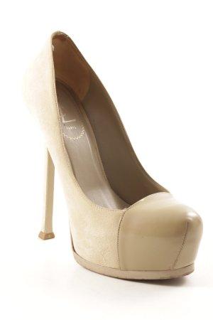 Yves Saint Laurent High Heels creme-beige Elegant