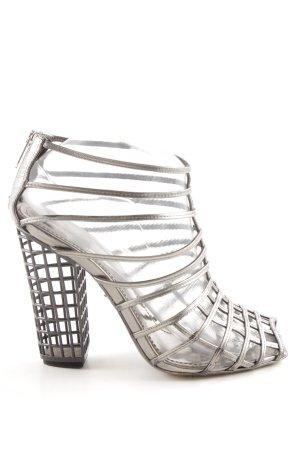 Yves Saint Laurent High Heels silberfarben extravaganter Stil