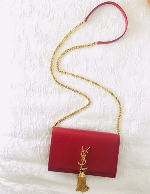 Yves Saint Laurent Clutch red leather