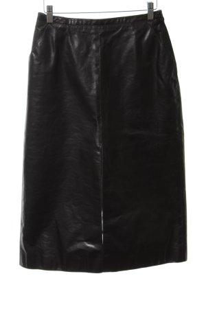Yves Saint Laurent Lederrock schwarz Allover-Druck extravaganter Stil