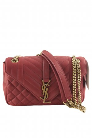 "Yves Saint Laurent Minitasche ""YSL Monogramme Shoulder Bag Red/Gold"""