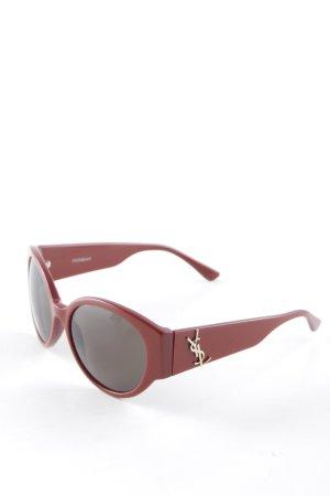 Yves Saint Laurent Ovale zonnebril donkerrood-donkergrijs casual uitstraling