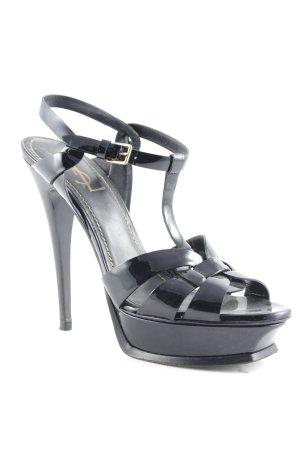 Yves Saint Laurent Plateau-Sandalen schwarz extravaganter Stil
