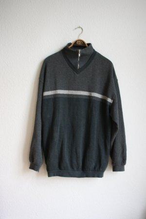 Yves Saint Laurent Pullover Pulli Sweater Sweatshirt Grau Vintage YSL Oversized