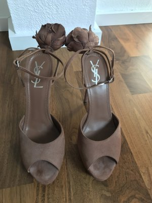 Yves Saint Laurent Pumps braun Wildleder Gr 39