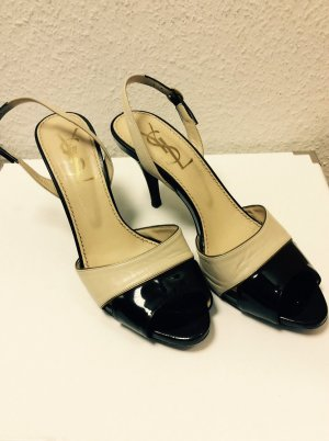Yves Saint Laurent Pumps High Heels Gr.38 beige schwarz