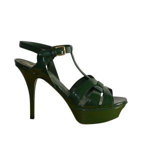 Yves Saint Laurent Pumps Sandaletten aus Lackleder, Gr. 37