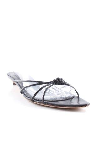 Yves Saint Laurent Riemchen-Sandalen schwarz Elegant