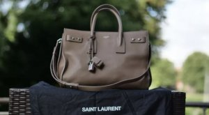 Yves Saint Laurent Sac de Jour taupe neutral beige