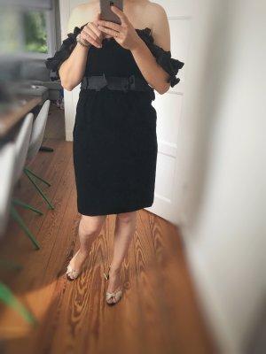 Yves Saint Laurent Samtkleid, Cocktailkleid, Abendkleid, Korsagenkleid