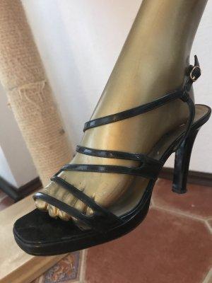 Yves Saint Laurent Strapped Sandals black