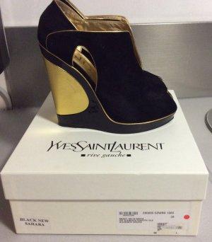 Yves Saint Laurent Schuhe Gold Schwarz