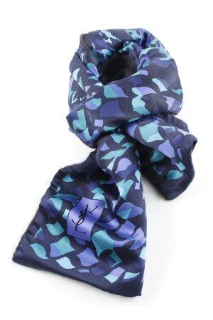 Yves Saint Laurent Zijden sjaal abstract patroon elegant