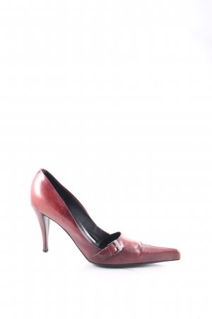 Yves Saint Laurent Spitz-Pumps braunrot Vintage-Look