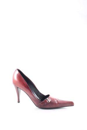 Yves Saint Laurent Pointed Toe Pumps brown red vintage look