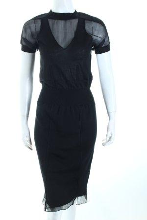 Yves Saint Laurent Strickkleid schwarz Business-Look