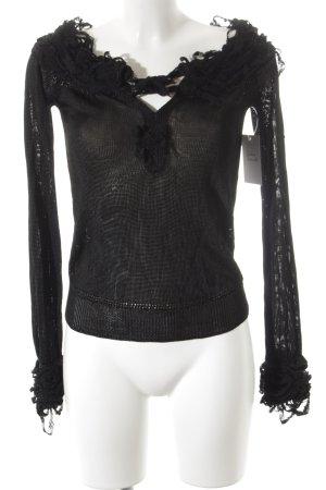 Yves Saint Laurent Strickpullover schwarz Elegant