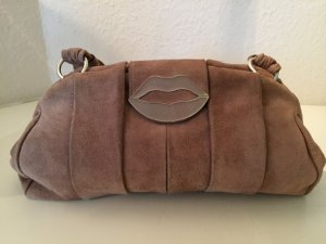 Yves Saint Laurent Tasche Beige Braun Wildleder YSL Dali Lips Bag Brown Tom Ford