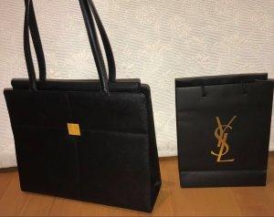 Yves Saint Laurent Sac à main noir-doré