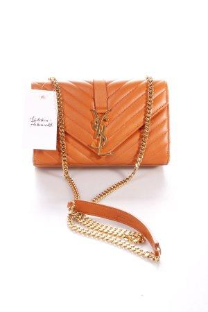 "Yves Saint Laurent Umhängetasche ""Monogramme Orange Quilted Chain Bag Small"""