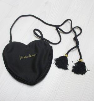 YVES SAINT LAURENT Vintage Herz Tasche Fransen Kordel chic Bag