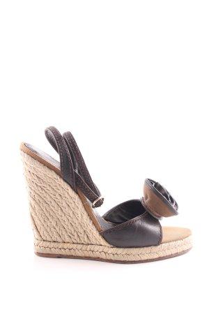 Yves Saint Laurent Wedges Sandaletten schwarz Casual-Look