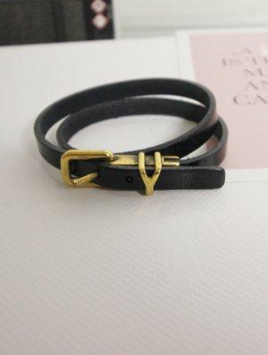 Yves Saint Laurent Wickelarmband Y Lederarmband Vintage YSL Designer Armband