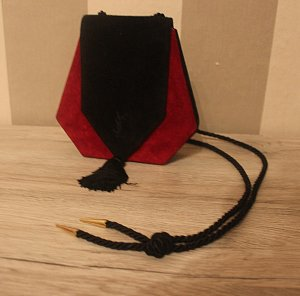 Yves Saint Laurent Wildleder Handtasche Bag Fransen Kordel Vintage
